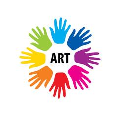 vector logo hand