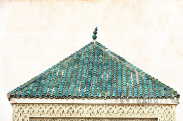Architectural detail in the old medina in Meknes, Morocco, Africa