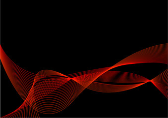 Abstract Black and Red Background with Blend
