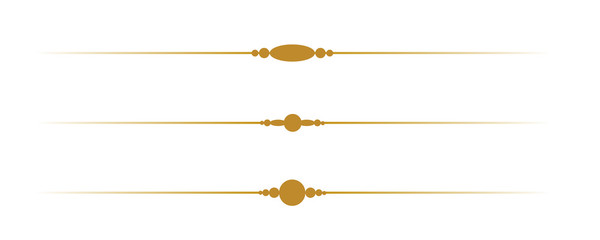 Simple Decorative Gold Borders on White Background