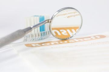 Zahnarzt Bonusheft Spiegel Prüfspitze