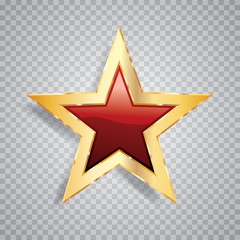 one gold red star