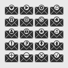 Set of envelope icon.