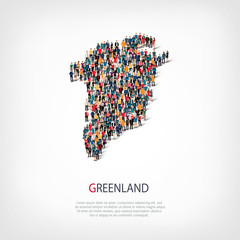 people map country Greenland vector