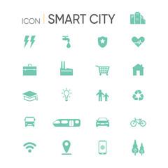 smart city icon set isolated on white background