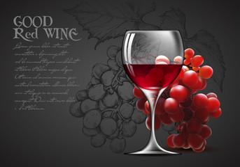 Transparent glass of wine