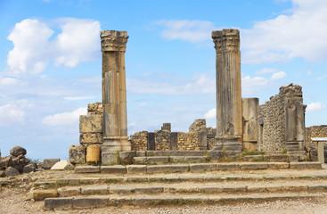 Roman Empire ruins of Volubilis, Morocco, Africa
