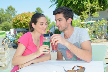 couple having a drink