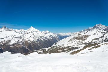 Matterhorn range, Zermatt Switzerland in clear sky day