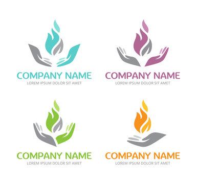 Logo Flamme et Mains