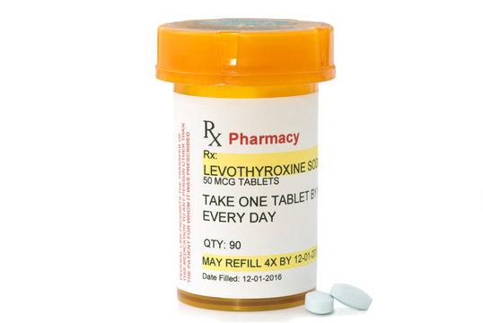 Facsimile Levothyroxine Prescription