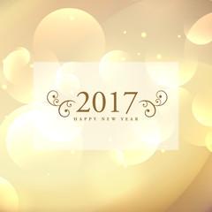 beautiful 2017 celebration greeting card design on bokeh backgro