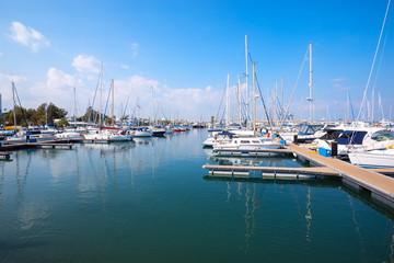 Yacht club in the Larnaca