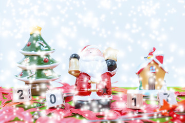 Merry Christmas and happy new year background  and number 2017 t