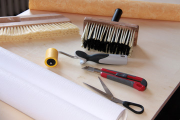 tools and wallpaper for homeworker
