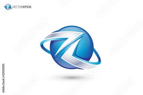 """Abstract Letter Z Logo - 3D Sphere Logo"""" Stock image and royalty ..."""