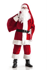 Santa Claus carrying bag