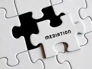 Mediation puzzle concept.