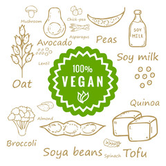 100% vegan food and products