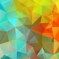 Abstract geometric style colorful background. Yellow, red, blue colors. Vector illustration
