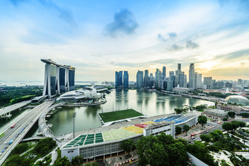 Wall Mural - SINGAPORE - NOV 22, 2016: The Marina Bay Sands Resort Hotel on N