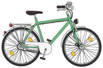 Vektor Illustration eines verkehrssicheren Fahrrads