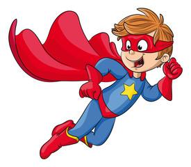Vektor Illustration eines starken Superhelden
