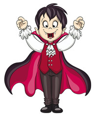 Vektor Illustration eines niedlichen Vampirs