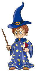 Vektor Illustration eines schlauen Zauberers