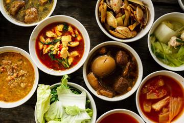 Close up Thai Foods