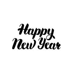 Happy New Year Handwritten Lettering