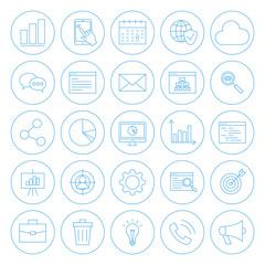 Line Circle Website Development Icons