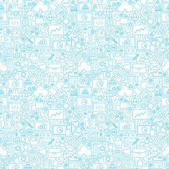 Line Development White Tile Pattern