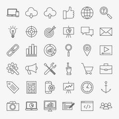 SEO Line Icons Set