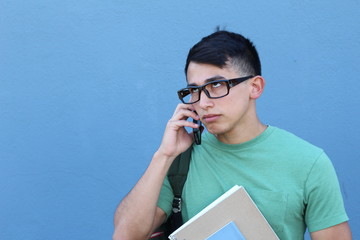 Annoyed young male on the phone