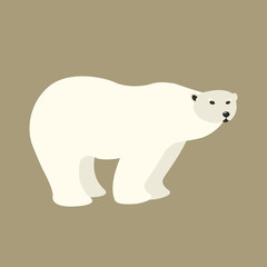 Polar bear  style vector illustration Flat