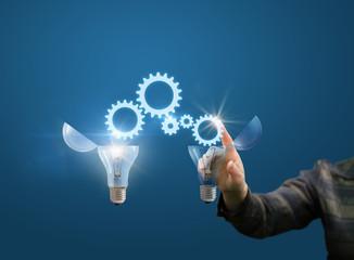 businesswoman generates ideas