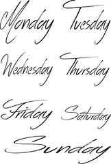 days of the week Collage