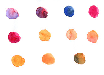 Watercolor texture with splodges