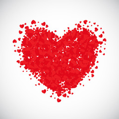 Valentine's Day Heart Symbol. Love and Feelings Background Desig