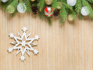white snowflake Christmas decoration