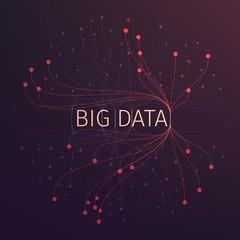 Abstract big data illustration. Analysis of information