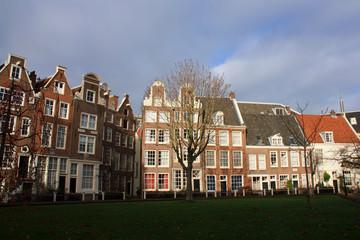Le béguinage au coeur d'Amsterdam, Pays-Bas