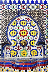 Architectural detail in the old Medina of Chefchaouen, Morocco, Africa