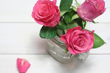 Fototapeta tapeta tło różowe róże obraz