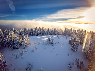 Snowy Hill Top View | Crater Lake National Park | Phantom 4