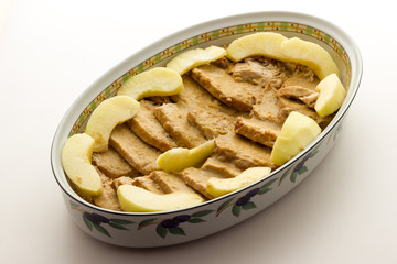 Roast pork with apples