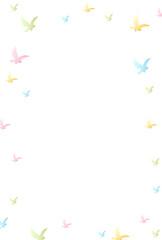 酉 カラフル 年賀状 背景