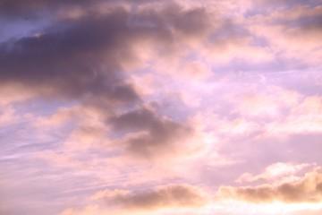 夕焼け 青い空 黒い雲 オレンジ