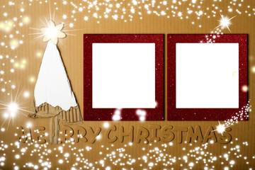 Christmas photo frame grunge background.